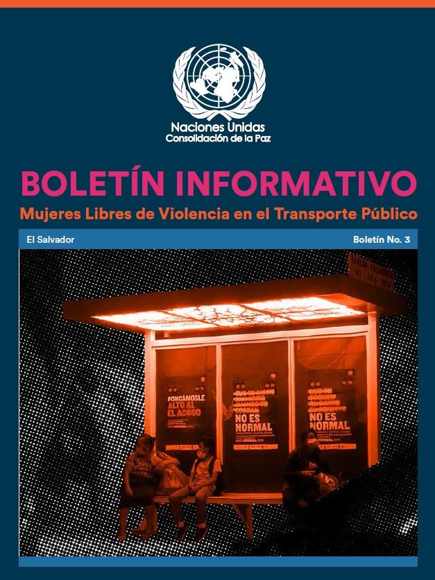 Boletín informativo No.3. Mujeres libres de violencia en el transporte público