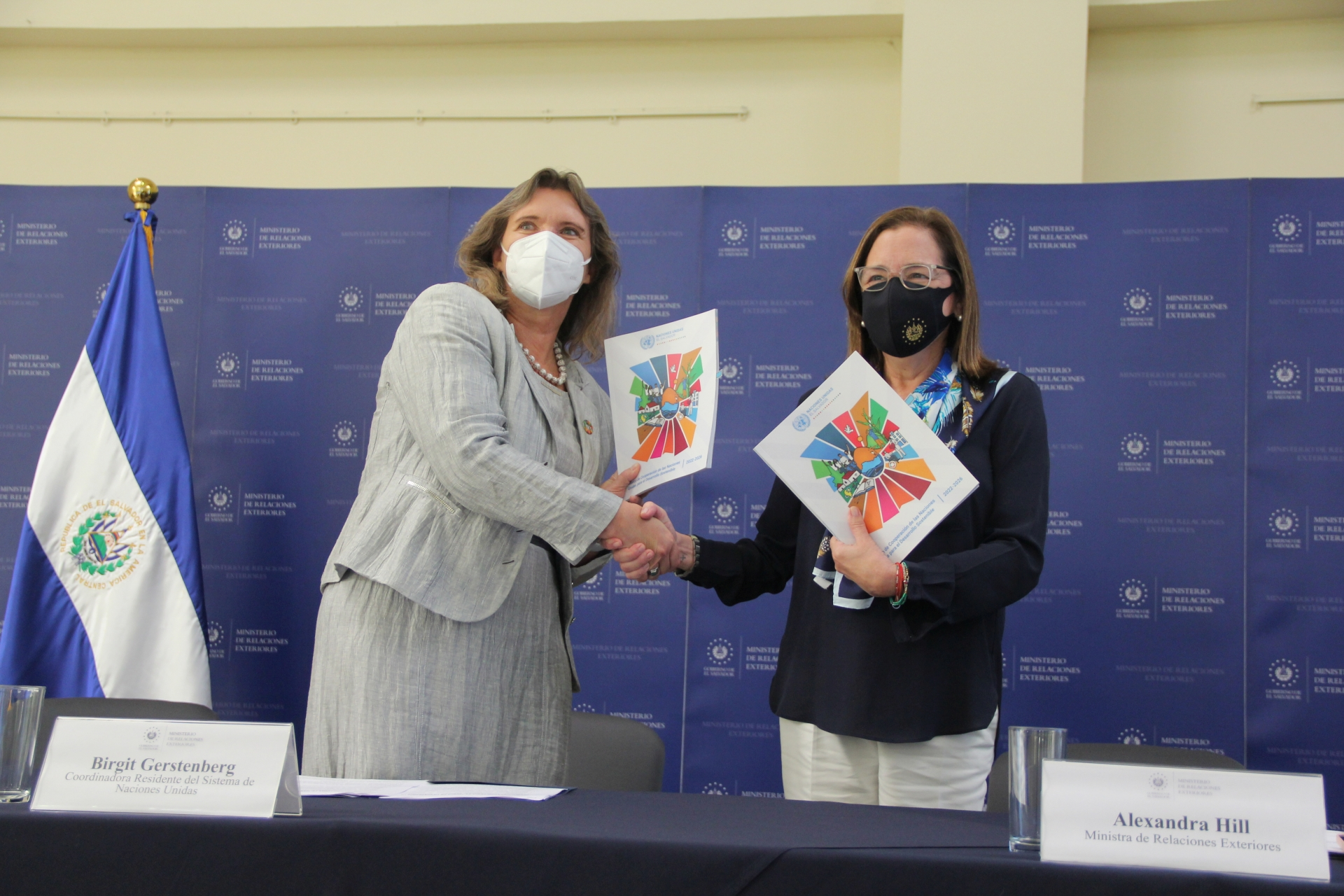 Naciones Unidas firma con el Gobierno de El Salvador el  Marco de Cooperación para el Desarrollo Sostenible 2022-2026